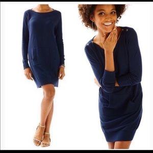 Lilly Pulitzer L Navy blue Jupiter coverup  dress